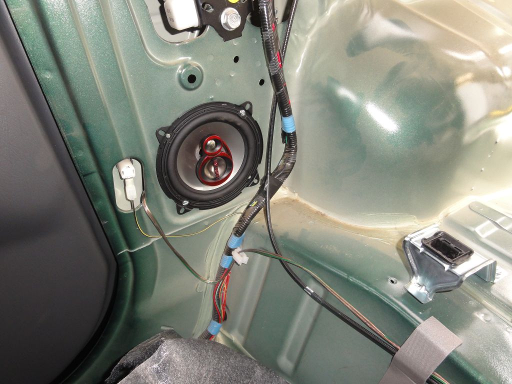 Details of the right speaker installation.