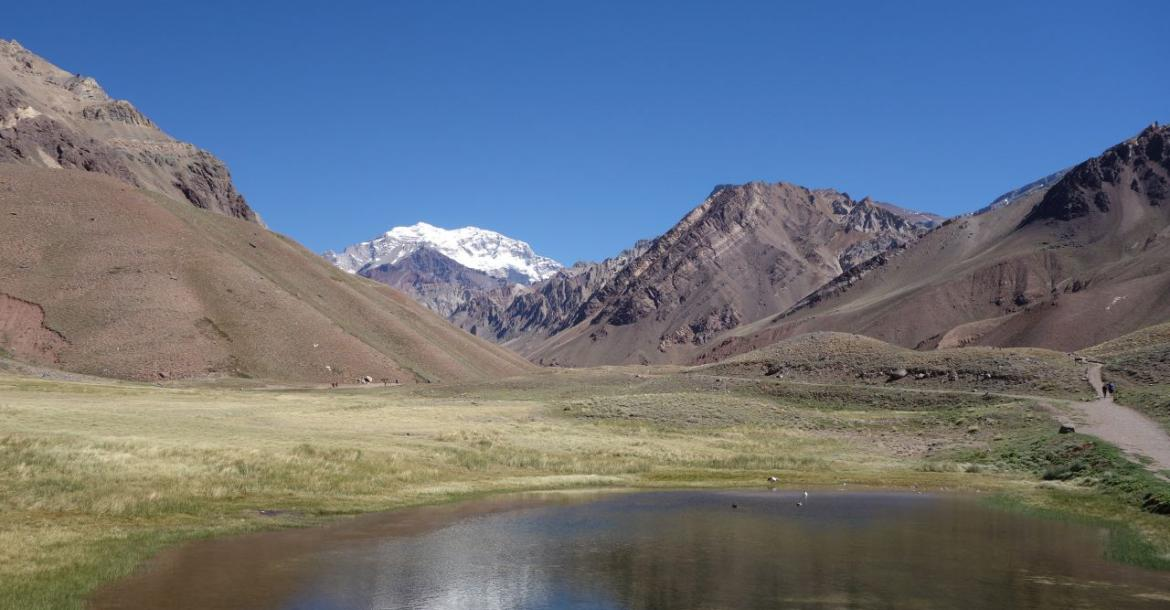 View from the Horcones Lake (2800m)