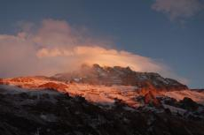 Sunset from Plaza de Mulas Basecamp (4200m)